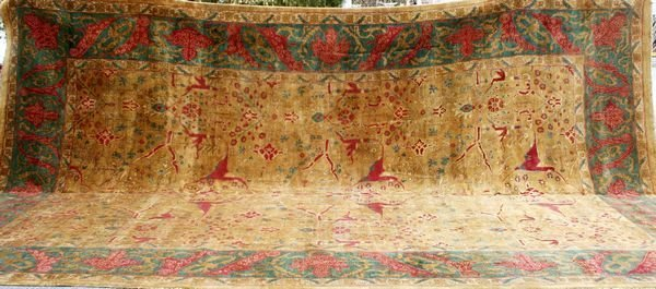 "4091: Very Unusual Indo Agra Rug, 11' 5"" x 18'."