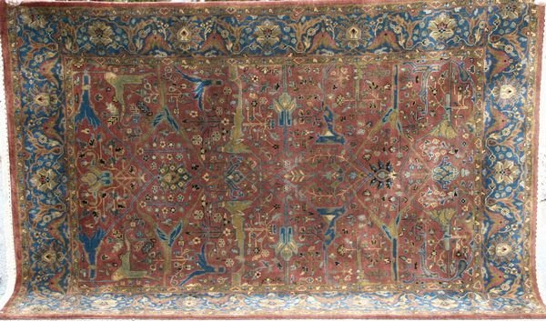 "4162: Plush Indo Sultanabad Rug, 5' 4"" x 8'."