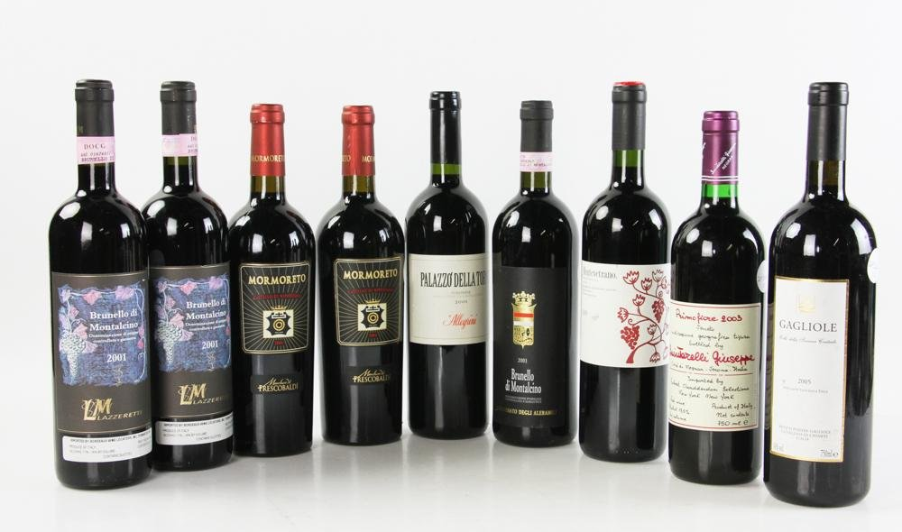 Group of Assorted Italian Wines