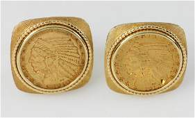 Cufflinks with American Gold Coins
