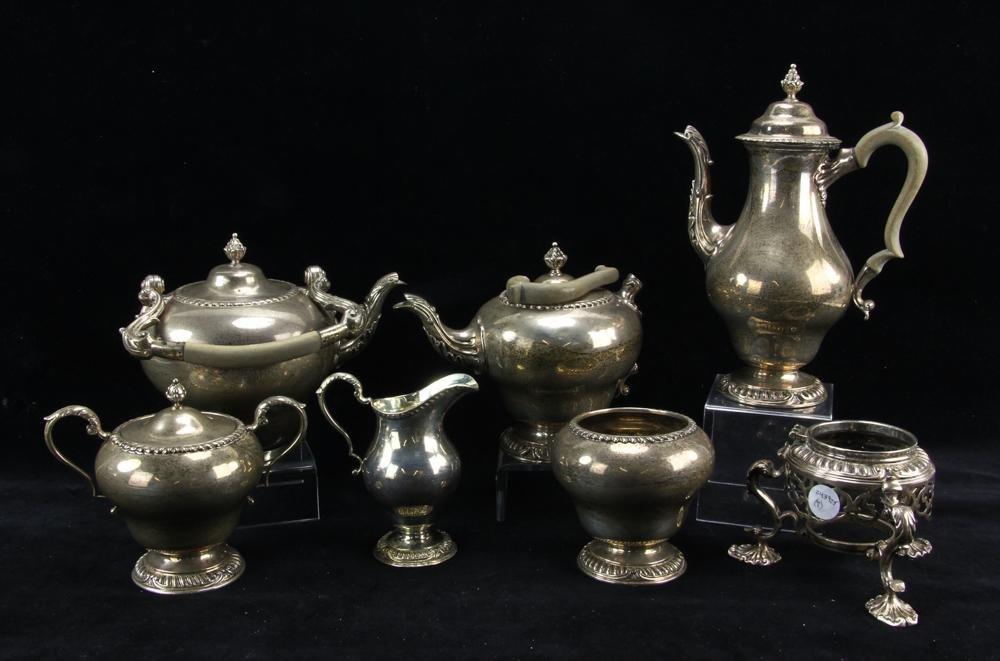 English Sterling 7-Piece Tea Set