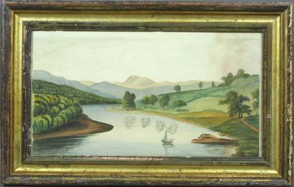 3001: 19th Century Watercolor, Possibly Hudson River