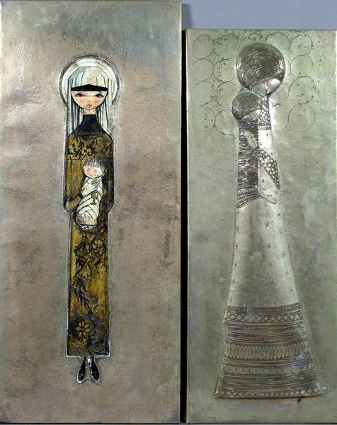 3004: (2) Artworks, Formed Metal and Metal Cut-out o/b