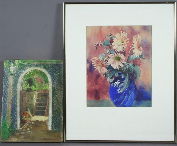 3006: (2) Works, American School o/c & Floral Still Lif