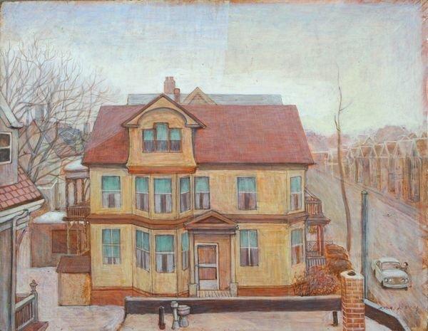 3007: Sgnd Joan Kerry, Victorian Home, Egg Tempura