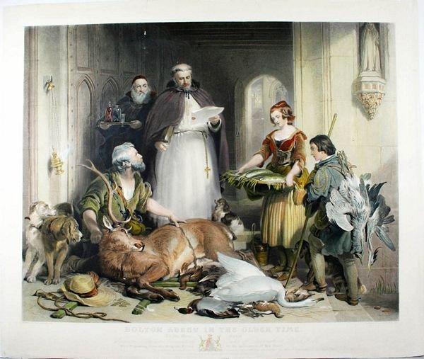 3009: LANDSEER, BOLTON ABBEY, ENGR W/HC, C.1837