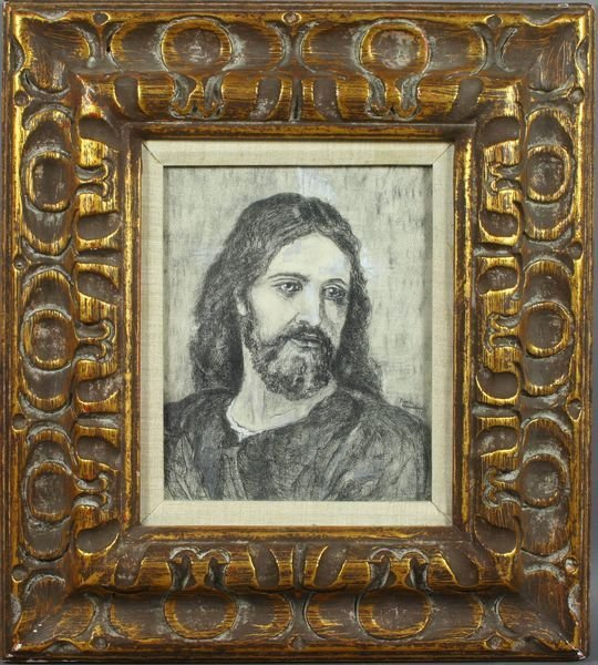 3010: Signed Beck Donahue, Portrait of Christ, Mixed