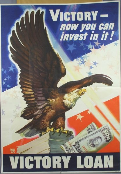 3013: WWII Victory Bond Poster by Dean Cornwell