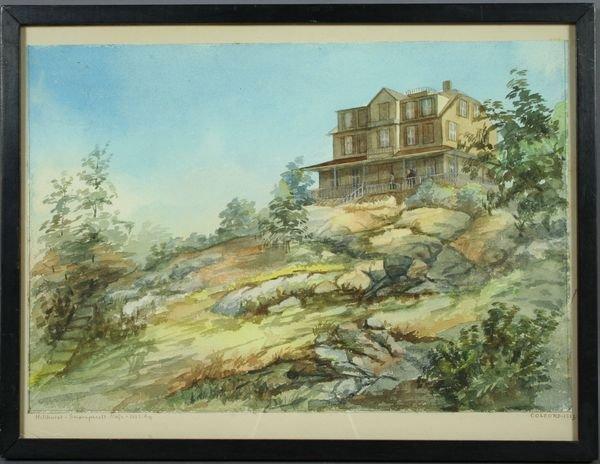 3022: Sgnd Colcord, Hillhurst - Swampscott 1883, w/c