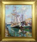 3093 Emile A Gruppe Drying the Sails OC Sgnd