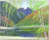 3140: Signed Paul Noble James, Echo Lake, o/c