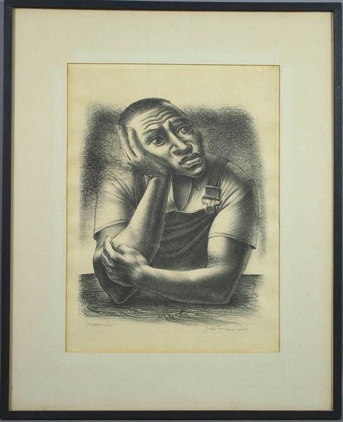 3314: Signed John Wilson, Native Son, Lithograph