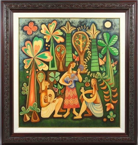 3133A: Signed Mario Carreno, Cuban Artist, o/c