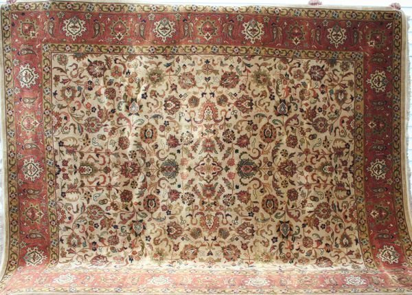 "4014R: Indo Isfahan, 8' x 9' 2""."
