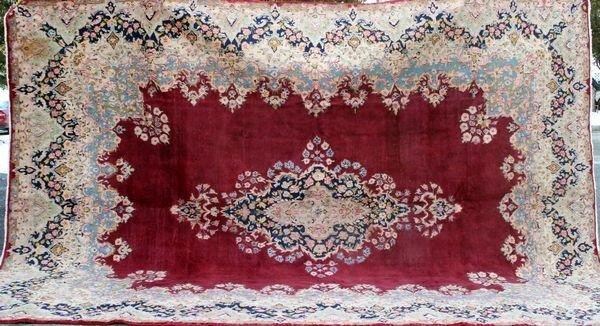 """4024R: Persian Rug, 13' 4"""" x 9' 8""""."""