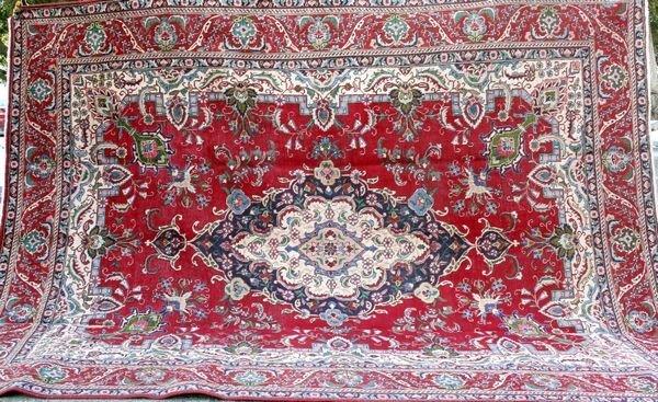 """4028R: Persian Rug, 12' 5"""" x 9' 10""""."""