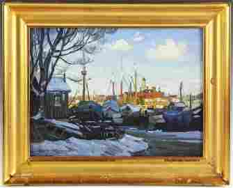 Ken Knowles, Afternoon Water, Oil on Board
