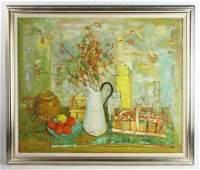 Andre Vignoles, Still Life, Oil on Canvas
