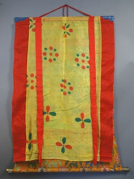 1001: Early 20th C. Indonesian Hand Painted Thangka