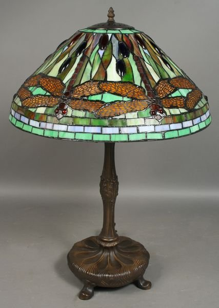 1002: 20th C. Tiffany style Stain Glass