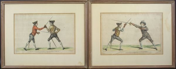 1005: Set of two (2) 19th C. French Fencers prints