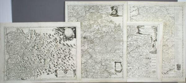 1007: Four (4) Engraved Maps of European Countries