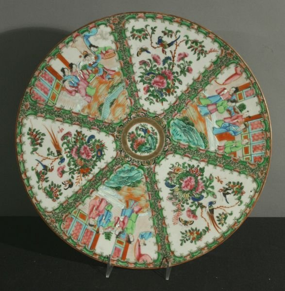 """1011: 19th Century Chinese Famille Rose Charger, 16"""""""