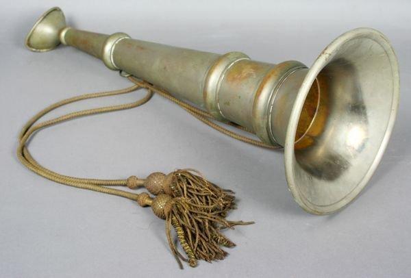 1012: 19th C. Nickel Plated Fireman's Speaking Horn