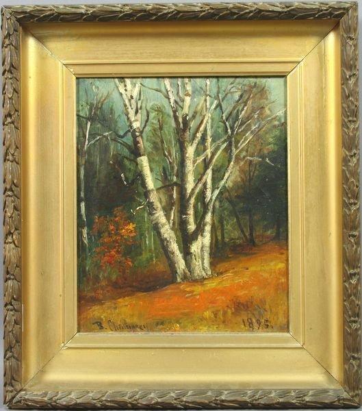 1014: Signed Benjamin Champney, N.H. Birches, o/c