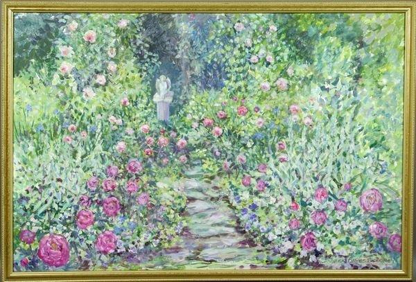 1018: Andrea Hayes Sweeney, Peonies, Roses, o/c