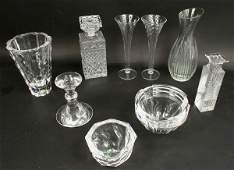 1272: CRYSTAL ASSORTMENT, ORREFORS, WATERFORD