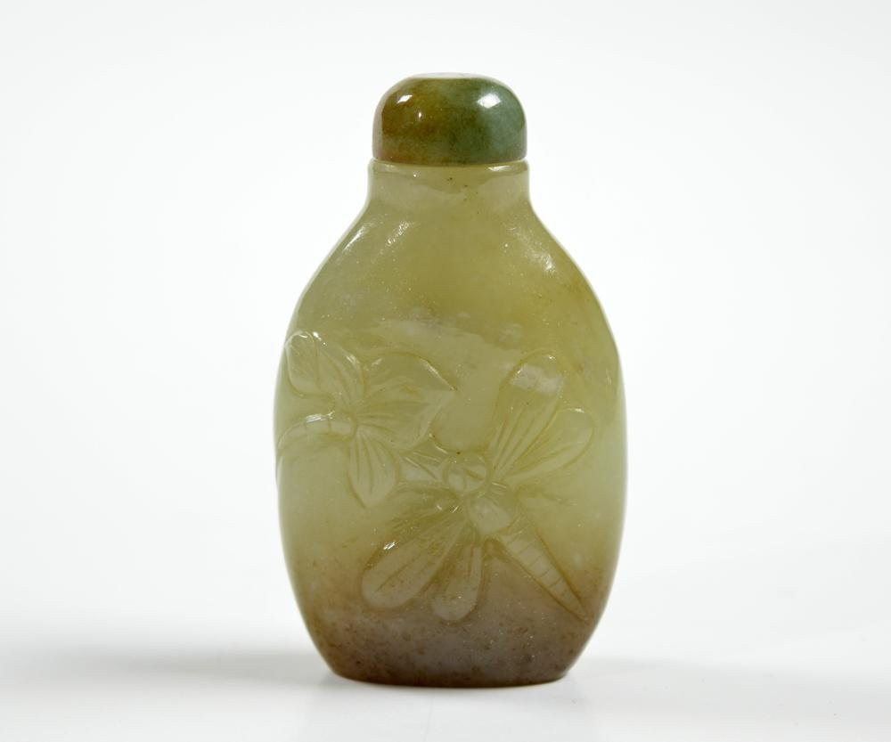 Fine Chinese Carved Jade Snuff Bottle