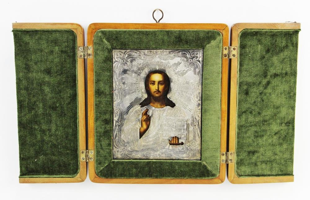 19thC Russian Icon of Christ the Teacher