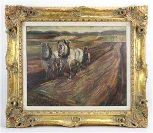 Lovis Corinth, Aschaffenburg, Oil on Panel