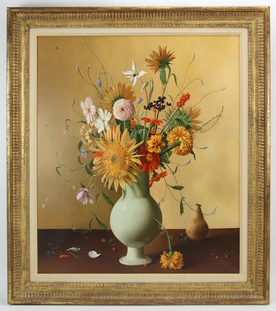 Renard, Still Life, White Vase with Bouquet