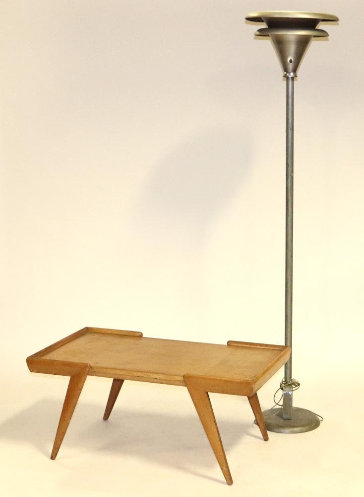 Mid Century Modern Table and Lamp