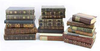 Large Group of English Leather Bound Books