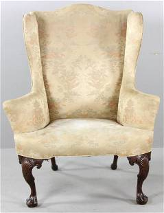 18thC Irish Wing Back Chair