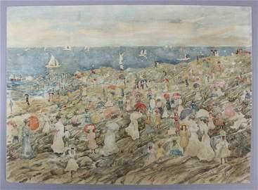 Maurice Prendergast, New England Beach Scene