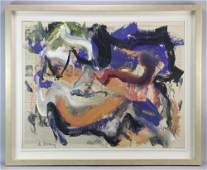 Willem De Kooning, Abstract, Oil on Newsprint