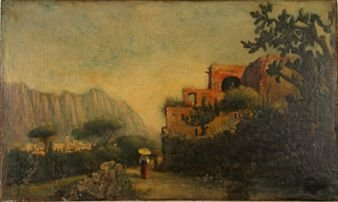 493: SIGNED T. DEFREES 19TH CENTURY OIL ON CANVAS