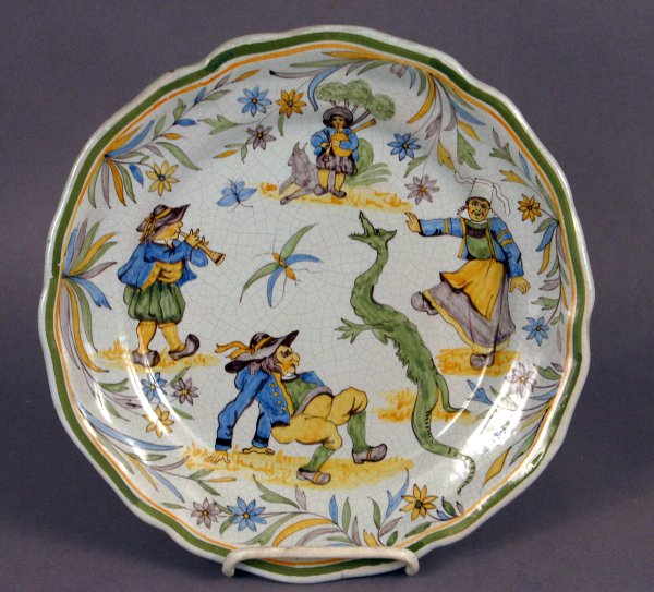 512: LATE 19TH CENTURY SIGNED QUIMPER POTTERY PLATE