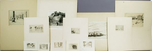 2013: Group of (12) Etchings by Frank A. Waugh