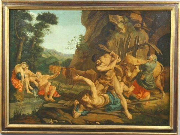 2018: 19th Century, after F. Lemoyne, Hercules, o/c