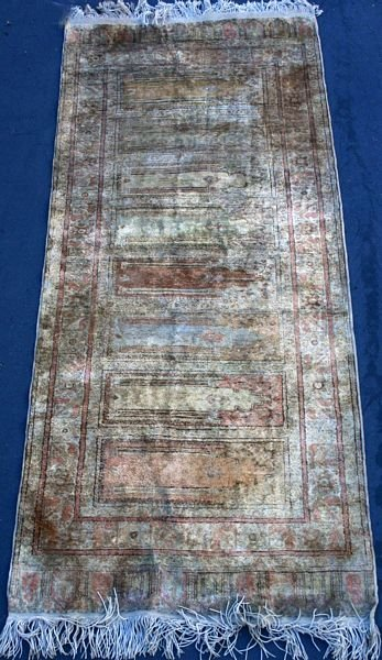 "2020: Early 20th Century Turkish Prayer Rug, 2' 10"" x 6"