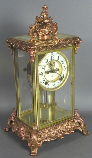2003: Ansonia Brass with Rose Wash Mantel Clock