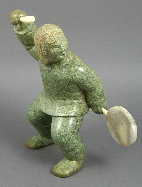 2006: Fine Carved Inuit Dancing Shaman Figure, Signed