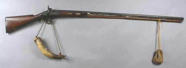 2019A: Early Brown Bess Rifle w/ Horn and Shot Pouch