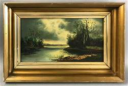 M. Bransom, Landscape, Oil on Canvas