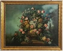 Large Dutch Style Still Life, Oil on Canvas